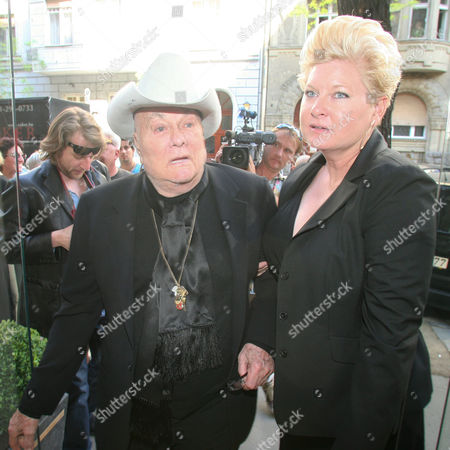 Tony Curtis and his wife Jill Vandenberg Curtis