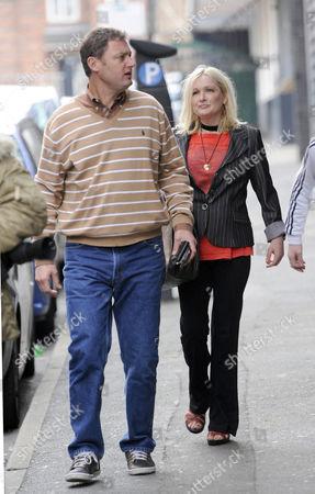 Editorial image of Caroline Aherne leaving the St John Street Hotel, Manchester, Britain - 23 Apr 2009