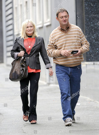 Stock Photo of Caroline Aherne and Jeff Pope