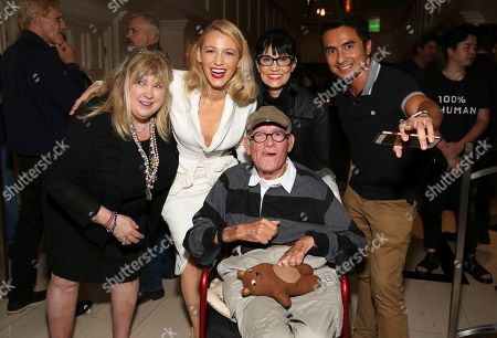"""Stock Image of Colleen Camp, Blake Lively, Nancy Ferguson, Buck Henry. Colleen Camp, Blake Lively, Nancy Ferguson and Buck Henry seen at the Open Road Films special screening of """"All I see Is You"""" at the London Hotel, in West Hollywood, Calif"""