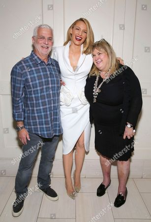 "Rob Friedman, Blake Lively, Colleen Camp. Rob Friedman, chairman/CEO of TMP Entertainment, Blake Lively and Colleen Camp seen at the Open Road Films special screening of ""All I see Is You"" at the London Hotel, in West Hollywood, Calif"