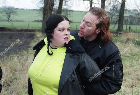 Ep 2176 Tuesday 11th March 1997  The Dingle burger wars continue when Mandy sets up the Munchbox near a lay by, with Butch and Marlon along as protection. As they search ahead for an ambush, Jimmy and Colin drag and attack Mandy - With Mandy Dingle, as played by Lisa Riley ; Jimmy, as played by Jack Marsden.