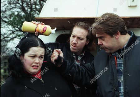 Ep 2174 Wednesday 5th March 1997  Mandy is furious when burger rivals turn up again. Instead of two old people this time, two hard looking lads get out of the van. They are looking for Marlon because he scared their mum and dad yesterday. They threaten Mandy and warn her off their patch - With Mandy Dingle, as played by Lisa Riley ; Colin, as played by Andrew Livingston; Jimmy, as played by Jack Marsden.