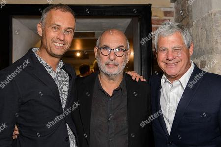 Michael le Poer Trench, Alan Yentob and Cameron Mackintosh