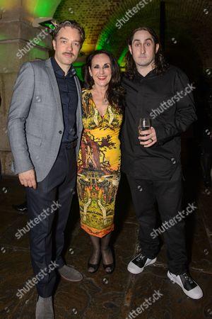 Hadley Fraser, Lesley Joseph and Ross Noble