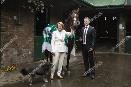 Editorial image of Australian horse trainer Gai Waterhouse at Randwick racecourse in Sydney, Australia - 11 Oct 2017