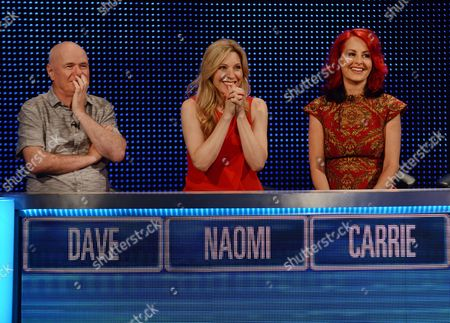 (Sat 14th Oct 2017) - (l-r) Dave Johns, Naomi Wilkinson and Carrie Grant.