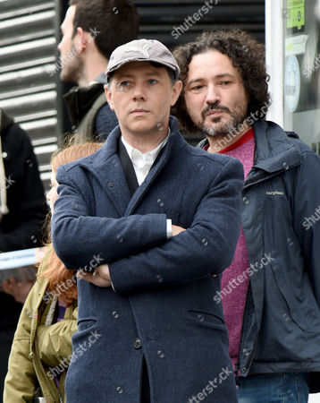 Reece Shearsmith is pictured with Jeremy Dyson.