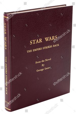 The front cover of Carrie Fisher's bound presentation script for Star Wars: Episode V - The Empire Strikes Back.
