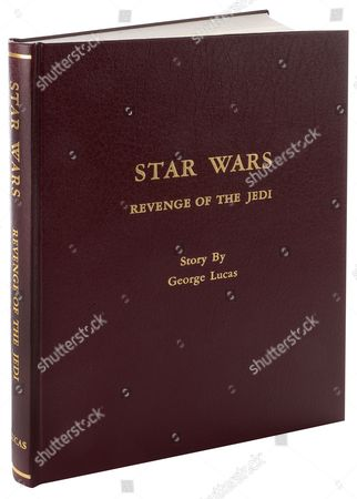 The front cover of Carrie Fisher's bound presentation script for Star Wars: Episode VI - Return of the Jedi.