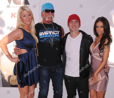 Stock Picture of Jennifer Mcdaniels Hulk Hogan Nick Hogan Breana Tiesi at Spike Tv's 'Video Game Awards 2011' Sony Studios Culver City Ca Usa December 10 2011 Â