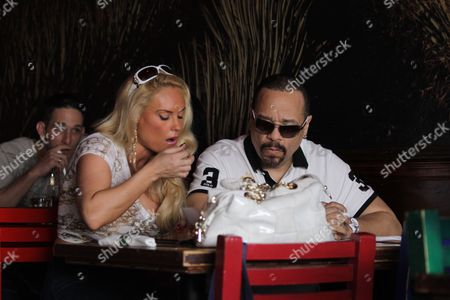 Editorial image of Ice-t, 52, and Wife Nicole 'coco' Austin, 31, Shopping in Miami