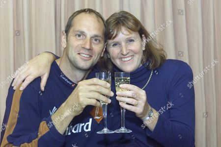 Steve Redgrave Celebrating With His Wife Ann At Home In Marlow On His Retirement From Olympic Rowing - Steve Redgrave Announces His Retirement - As Olympic Gold Medallist Steve Redgrave Finally Announced His Retirement From Rowing His Relieved Wife Declared: 'this Time He Means It' After Years In Which Her Husband Spent Almost Every Waking Hour Training Ann Redgrave Said She Was Looking Forward To Him Being At Home More Often - 'if You Are A Good Sportsman One Of The Things You Have Got To Do Is Know When To Get Away From It She Said . Ever Since I Married Him He Has Told Me ' This Will Be The Last One' Redgrave 38 Said He Had Never Intended To Complete Beyond The Sydney Olympics At Which He Collected His Record-breaking Fifth Gold Medal.
