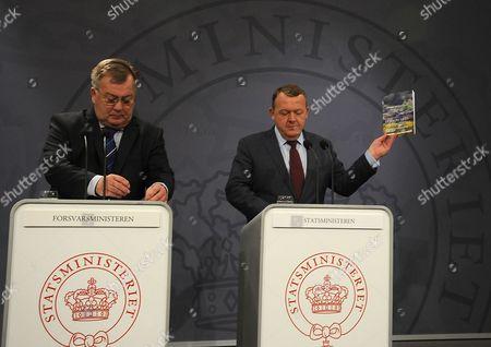 Minister for defence Claus Hjort Frederiksen, Prime Minister Lars Lokke Rasmussen