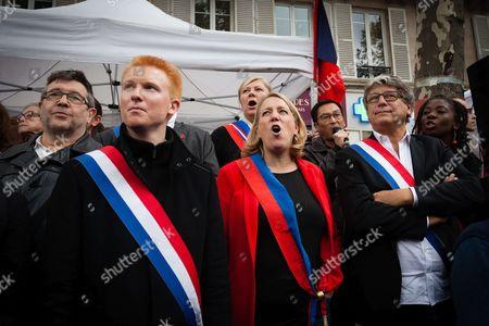 Adrien Quatennens, Danielle Simonnet and Eric Coquerel (members of La France Insoumise party)