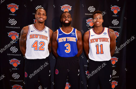 Editorial picture of New York Knicks unveil Squarespace jersey partnership, New York, USA - 10 Oct 2017