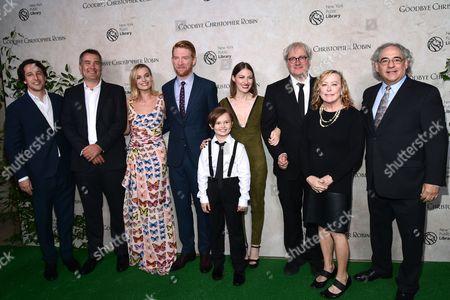 Damian Jones (producer), Margot Robbie (actress), Domhnall Gleeson (actor), Will Tilston (actor), Kelly Macdonald (actress), Simon Curtis (director)