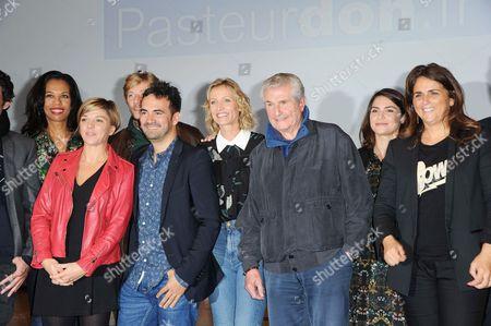 Alexandra Lamy, Claude Lelouch, Marc Olivier Fogiel, Valerie Benaim, Alex Goude and Guest