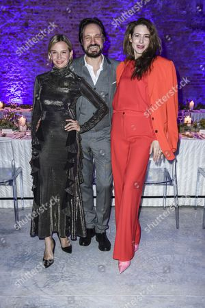 Mario Eimuth, Nadeshda Brennicke and Julia Malik