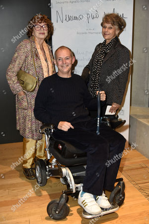 Stock Photo of Simonetta Lamb Hornby and George Hornby with Inge Feltrinelli