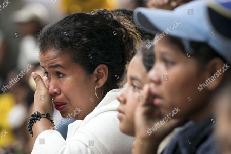 Supporters of Governor of the Miranda State Henrique Capriles react during a political event in Caracas, Venezuela, 11 October 2017. Capriles said goodbye to public service four days before the regional election, from which he was banned to run due to 'administrative irregularities'.