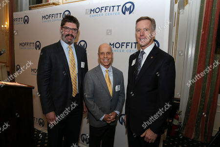 Dr. Frederick Locke, Scott Hamilton, Dr. Alan List. Dr. Frederick Locke, Scott Hamilton, and Dr. Alan List seen at the Moffitt Cancer Center New York Leadership Series at the Metropolitan Club, in New York