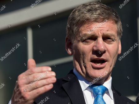 New Zealand Prime Minister Bill English gestures during a speech in Christchurch, New Zealand. The main conservative and liberal parties are competing to form a government after an election last month ended with an inconclusive result. Crucial to the negotiations is the small New Zealand First party, led by maverick lawmaker Winston Peters