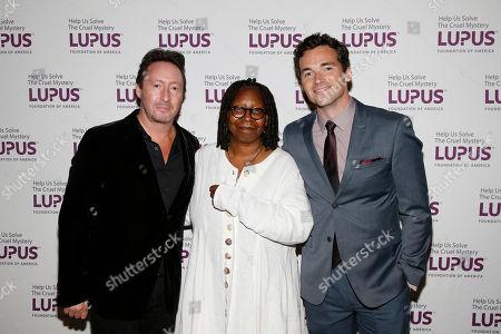 Julian Lennon, Whoopi Goldberg, Ian Harding. Julian Lennon, Whoopi Goldberg and Ian Harding attend the Lupus Foundation of America's Evening of Hope Gala, in New York