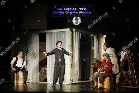 Joerg Westphal (spielt: Al Reeves, Leiter der Chaplin Studios, James, Passant/2. Mann), Wolfgang Bahro (spielt Charles Spencer Chaplin), Elinor Eidt (spielt: Lina Chaplin O Neil/ Mary/ Garderobiere/Partygast/2.Frau), Herbert Schoeberl (spielt: Veranstalter