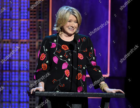 Martha Stewart speaks at the Comedy Central Roast of Justin Bieber at Sony Pictures Studios, in Culver City, Calif. Stewart, Ina Garten, and Anthony Bourdainremain the names to beat in food broadcasting. For a second year running, the three dominated the top tier of television awards by the James Beard Foundation, winning for the same shows in the same categories as in 2014