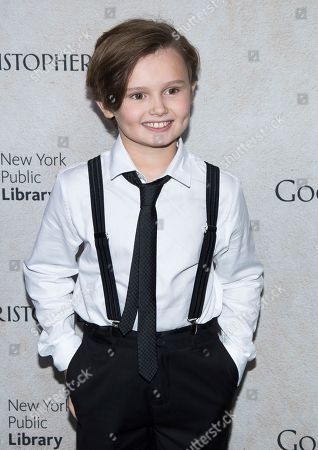 """Stock Picture of Will Tilston attends a """"Goodbye Christopher Robin"""" screening at the New York Public Library, in New York"""