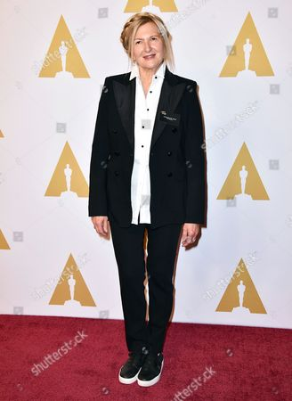 """Designer Jacqueline West arrives at the 88th Academy Awards Nominees Luncheon in Beverly Hills, Calif. West is nominated for costume design for her work on the film, """"The Revenant."""" The 88th Academy Awards will be held on Sunday, Feb. 28"""