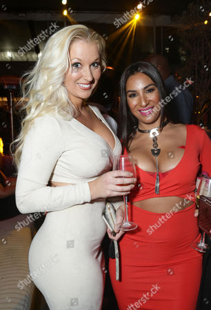 """Amanda Moore and Liana Mendoza are seen at """"Meet the Blacks"""" Premiere after party at the Le Jardin, in Los Angeles"""