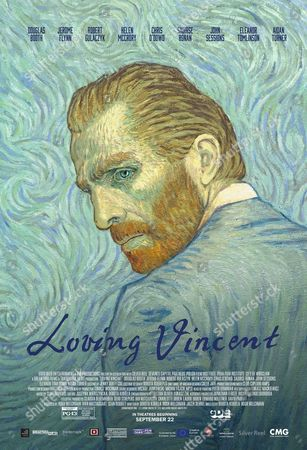 Stock Picture of Loving Vincent (2017) Poster Art. Robert Gulaczyk