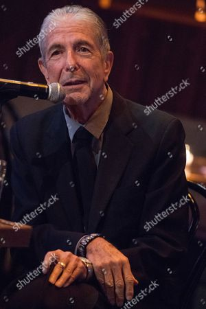 """Leonard Cohen attends a listening party for his new album """"Popular Problems"""" on in New York"""