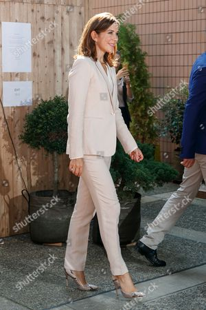 Crown Princess Mary Elizabeth Donaldson attends a Danish lifestyle and food exhibition at the Embassy of Denmark in Tokyo