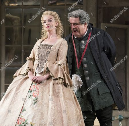 Sarah Tynan as Rosina, Alan Opie as Doctor Bartolo