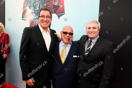 """Director/Producer Kenny Ortega, Co-Producer Frank DiLeo and AEG's Randy Phillips at Columbia Pictures' Premiere of Michael Jackson's """"This Is It"""" on October 27, 2009 at the Nokia Theatre L.A. Live in Los Angeles. Ortega told a jury, that Michael Jackson's state six days before the singer's death frightened him, and that he saw his friend show up to at least four rehearsals in an impaired state in the final months of his life. Ortega is testying in a negligent hiring lawsuit filed by Jackson's mother against concert promoter AEG Live LLC"""