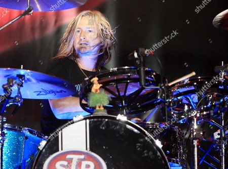 Stock Image of Eric Kretz of Stone Temple Pilots performs in concert at the Sands Event Center, in Bethlehem, Pa