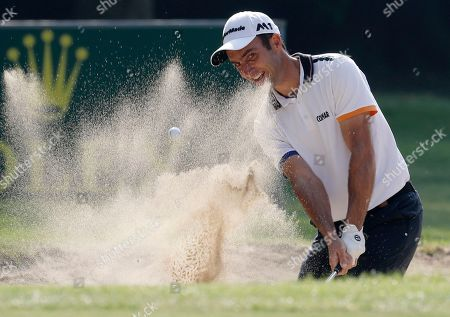 Edoardo Molinari, of Italy, hits the ball during the 74th Italy Open Golf tournament in Monza, Italy