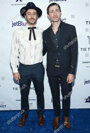 Stock Photo of Blue Hamilton and Matt Dallas