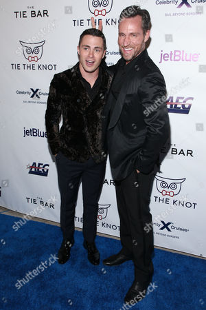 Stock Image of Jeff Leatham and Colton Haynes