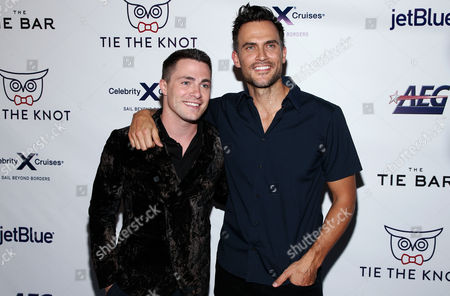 Stock Picture of Jeff Leatham and Cheyenne Jackson