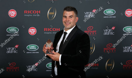 Nick Easter is inducted into the Premiership Rugby Hall of Fame at Honourable Artillery Company, London, England on Thursday 12th of October 2017 - (
