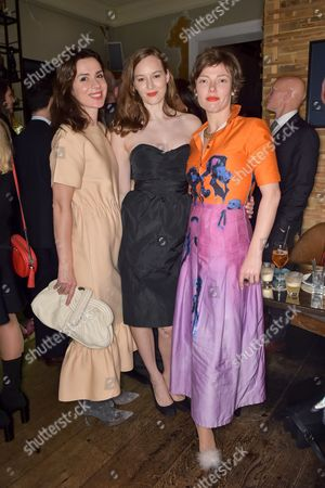 Lara Bohinc, Lou Hayter and Camilla Rutherford