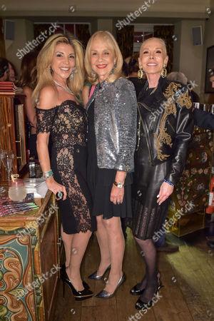 Lisa Tchenguiz, Niki Cole and Michele Herbert
