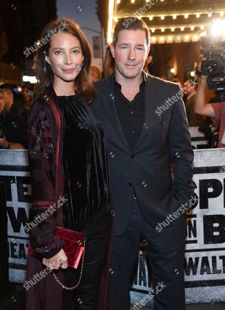 "Christy Turlington, Ed Burns. Model Christy Turlington and actor Ed Burns arrive at ""Springsteen On Broadway"" opening night at the Walter Kerr Theatre, in New York"