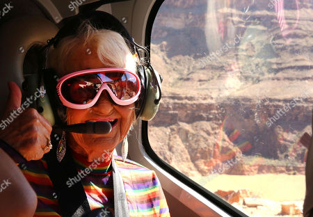 Baddie Winkle flies over the Grand Canyon, Ariz., on as she checks off another #BadAssBucketList activity with Hotels.com® while soaring over the Grand Canyon, Ariz., in a helicopter ? talk about a seat with a view! Baddie Winkle's #BadAssBucketList celebrates Hotels.com® Rewards ? if only everything in life was as rewarding as Hotels.com® Rewards