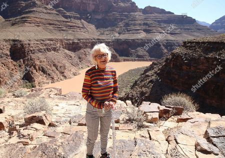 Baddie Winkle poses for a photo on as she checks off another #BadAssBucketList activity with Hotels.com® while soaring over the Grand Canyon, Ariz., in a helicopter ? talk about a seat with a view! Baddie Winkle's #BadAssBucketList celebrates Hotels.com® Rewards ? if only everything in life was as rewarding as Hotels.com® Rewards