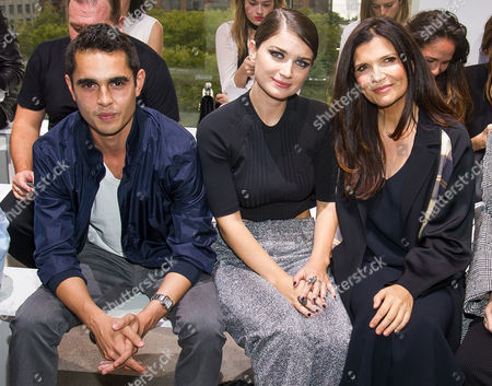 Max Minghella, from left, Eve Hewson and Ali Hewson attend the Edun Spring/Summer 2016 fashion show during Fashion Week on in New York